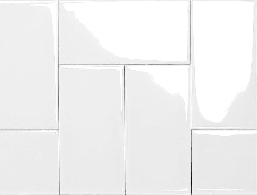 White Glazed Ceramic Tile Designs