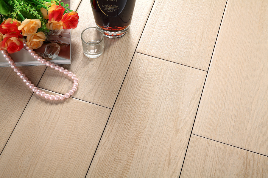 Decoration Floor Wood Effect Tiles