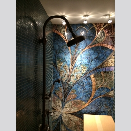 High End Glass Wall Mosaic Design Tile
