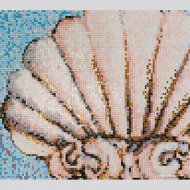 Sea Shell Pool Mosaic Tile