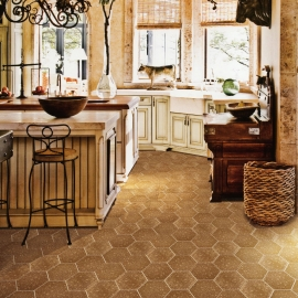 Anti-slip Retro Kitchen Floor Tiles