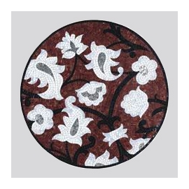 Flower Wall Decor Glass Mosaic Pattern
