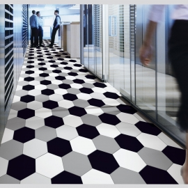 Aisle Hexagonal Tile Flooring
